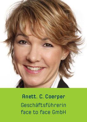 Anett. C. Coerper Geschäftsführerin face to face GmbH